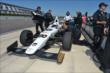 Ed Carpenter on pit lane prior to practice for the Pocono INDYCAR 500 at Pocono Raceway -- Photo by: Chris Owens
