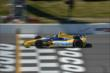 Marco Andretti crosses the start/finish line during practice for the  Pocono INDYCAR 500 at Pocono Raceway -- Photo by: Chris Owens