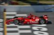 Tony Kanaan crosses the start/finish line during practice for the  Pocono INDYCAR 500 at Pocono Raceway -- Photo by: Chris Owens