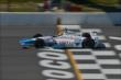 James Hinchcliffe crosses the start/finish line during practice for the  Pocono INDYCAR 500 at Pocono Raceway -- Photo by: Chris Owens