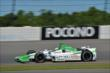 Carlos Munoz exits Turn 2 during practice for the  Pocono INDYCAR 500 at Pocono Raceway -- Photo by: Chris Owens