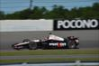 Will Power exits Turn 2 during practice for the  Pocono INDYCAR 500 at Pocono Raceway -- Photo by: Chris Owens