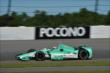 Charlie Kimball exits Turn 2 during practice for the  Pocono INDYCAR 500 at Pocono Raceway -- Photo by: Chris Owens