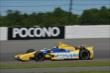 Marco Andretti exits Turn 2 during practice for the  Pocono INDYCAR 500 at Pocono Raceway -- Photo by: Chris Owens