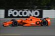 Simon Pagenaud exits Turn 2 during practice for the  Pocono INDYCAR 500 at Pocono Raceway -- Photo by: Chris Owens