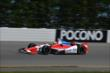 Justin Wilson exits Turn 2 during practice for the  Pocono INDYCAR 500 at Pocono Raceway -- Photo by: Chris Owens