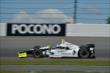 Josef Newgarden exits Turn 2 during practice for the  Pocono INDYCAR 500 at Pocono Raceway -- Photo by: Chris Owens