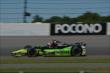 Jack Hawksworth exits Turn 2 during practice for the  Pocono INDYCAR 500 at Pocono Raceway -- Photo by: Chris Owens