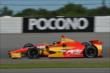 Sebastian Saavedra exits Turn 2 during practice for the  Pocono INDYCAR 500 at Pocono Raceway -- Photo by: Chris Owens