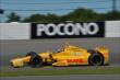 Ryan Hunter-Reay exits Turn 2 during practice for the  Pocono INDYCAR 500 at Pocono Raceway -- Photo by: Chris Owens