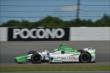 Carlos Munoz enters Turn 3 during practice for the  Pocono INDYCAR 500 at Pocono Raceway -- Photo by: Chris Owens