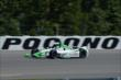 Carlos Munoz heads down the Long Pond straight during practice for the  Pocono INDYCAR 500 at Pocono Raceway -- Photo by: Chris Owens