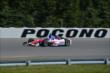 Takuma Sato heads down the Long Pond Straightaway during practice for the  Pocono INDYCAR 500 at Pocono Raceway -- Photo by: Chris Owens