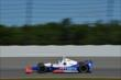 Ryan Briscoe enters Turn 3 during practice for the  Pocono INDYCAR 500 at Pocono Raceway -- Photo by: Chris Owens