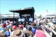 Ganassi drivers during a Q&A in the INDYCAR Fan Village -- Photo by: Bret Kelley