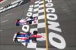 Takuma Sato and Ryan Briscoe go side-by-side at the start of the Pocono INDYCAR 500 -- Photo by: Bret Kelley