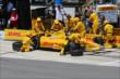 Ryan Hunter-Reay with an early pit stop during the Pocono INDYCAR 500 -- Photo by: Bret Kelley