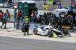 Josef Newgarden leaves the pits after his first pit stop in the Pocono INDYCAR 500 -- Photo by: Bret Kelley