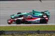 Justin Wilson and Charlie Kimball go side-by-side for the start of the Pocono INDYCAR 500 -- Photo by: Chris Jones