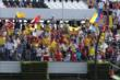 A large group of Colombian fans at Pocono Raceway. -- Photo by: Chris Jones