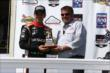 Helio Castroneves and Brandon Igdalsky -- Photo by: Chris Jones