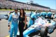 James Hinchcliffe and his girlfried Kirsten on the grid before the Pocono INDYCAR 500 -- Photo by: Chris Jones
