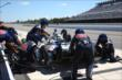 Graham Rahal receives service in pit lane. -- Photo by: Chris Jones
