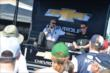 Ed Carpenter chats with fans in the INDYCAR Fan Village at Pocono Raceway -- Photo by: Chris Owens