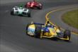 Marco Andretti leads Carlos Munoz and Tony Kanaan -- Photo by: Chris Owens