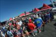 Fans line up in droves during the autograph session at Pocono Raceway -- Photo by: Chris Owens