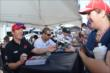 Scott Dixon and Tony Kanaan sign autographs in the INDYCAR Fan Village -- Photo by: Chris Owens