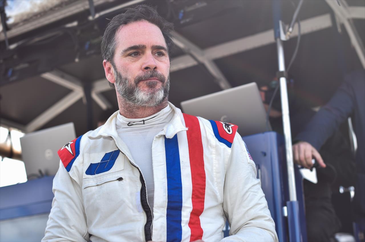 Mesmo com 46 anos, Jimmie Johnson quer novos desafios para sua carreira (Chris Owens/Indycar)