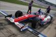 Takuma Sato leaves his pit stall for practice for the Firestone 600 at Texas Motor Speedway -- Photo by: Chris Jones