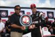 Will Power accepts the Verizon P1 Award for winning the pole for the Firestone 600 at Texas Motor Speedway -- Photo by: Chris Jones
