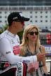 Graham Rahal and his girlfriend, Courtney Force, on pitlane prior to practice for the Firestone 600 at Texas Motor Speedway -- Photo by: Chris Jones