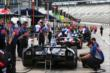 Cars line up on pitlane prior to practice for the Firestone 600 at Texas Motor Speedway -- Photo by: Chris Jones