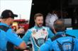 James Hinchcliffe chats with his team following practice for the Firestone 600 at Texas Motor Speedway -- Photo by: Chris Jones