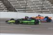 Jack Hawksworth and Charlie Kimball go side-by-side during practice for the Firestone 600 at Texas Motor Speedway -- Photo by: Chris Jones