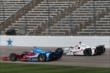 Josef Newgarden and Simon Pagenaud go wheel-to-wheel during practice for the Firestone 600 -- Photo by: Chris Jones