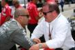 Tony Kanaan and team owner Chip Ganassi chat prior to qualifications for the Firestone 600 at Texas Motor Speedway -- Photo by: Chris Jones