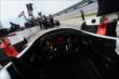 A cockpit view from Juan Pablo Montoya's car prior to practice at Texas Motor Speedway -- Photo by: Chris Owens