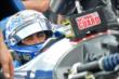 Graham Rahal focuses down track prior to practice for the Firestone 600 at Texas Motor Speedway -- Photo by: Chris Owens