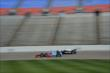 Josef Newgarden and Will Power go side-by-side during practice for the Firestone 600 at Texas Motor Speedway -- Photo by: Chris Owens