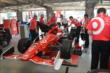 The Target Chip Ganassi Racing team for Scott Dixon work on his car in the Texas Motor Speedway paddock -- Photo by: Chris Owens
