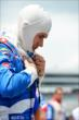 Mikhail Aleshin prepares for his qualification attempt for the Firestone 600 at Texas Motor Speedway -- Photo by: Chris Owens