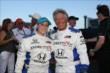 Mario Andretti and the winner of the Honda Fastest Seat in Sports for the Firestone 600 at Texas Motor Speedway -- Photo by: Chris Jones