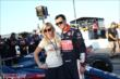 Graham Rahal and Courtney Force during pre-race ceremonies for the Firestone 600 -- Photo by: Chris Jones