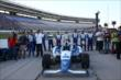 The Dale Coyne Racing team of Carlos Huertas during pre-race ceremonies for the Firestone 600 -- Photo by: Chris Jones
