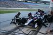 Mikhail Aleshin comes in for an early pit stop during the Firestone 600 at Texas Motor Speedway -- Photo by: Chris Jones