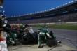 An early pitstop for Ed Carpenter during the Firestone 600 at Texas Motor Speedway -- Photo by: Chris Jones
